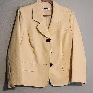 Womens yellow cream blazer